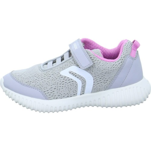 Shoes Girl Low top trainers Geox Waviness White, Grey