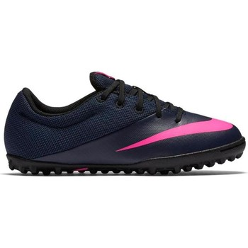 Shoes Children Football shoes Nike Mercurialx Pro Navy blue,Pink