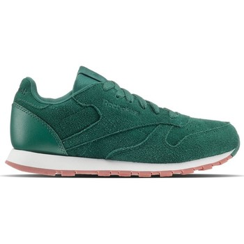 Shoes Children Low top trainers Reebok Sport Classic Leather SG Green