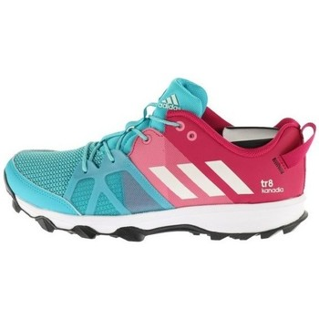 Shoes Children Running shoes adidas Originals Kanadia 8 K Turquoise,White,Pink
