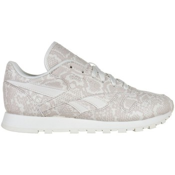 Shoes Women Low top trainers Reebok Sport Leather Snake Beige