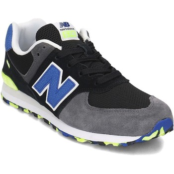 Shoes Children Low top trainers New Balance GC574UJC Black, Grey, Blue