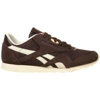 Shoes Women Low top trainers Reebok Sport CL NYLON SLIM EP Brown, Cream
