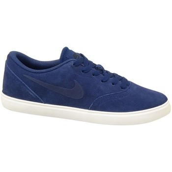 Shoes Children Derby Shoes & Brogues Nike SB Check Suede GS Navy blue