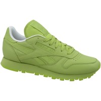 Shoes Women Low top trainers Reebok Sport CL Lthr Green