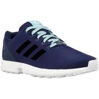 Shoes Boy Low top trainers adidas Originals ZX Flux K Black, Navy blue