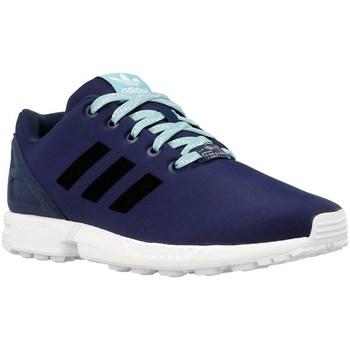 Shoes Boy Low top trainers adidas Originals ZX Flux K Black,Navy blue