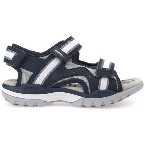 Shoes Boy Sandals Geox J Borealis Boy Navygrey Black