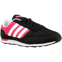 Shoes Women Low top trainers adidas Originals City Racer W White, Black, Pink