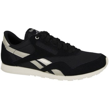 Shoes Women Low top trainers Reebok Sport Nylon Slim White, Black, Golden
