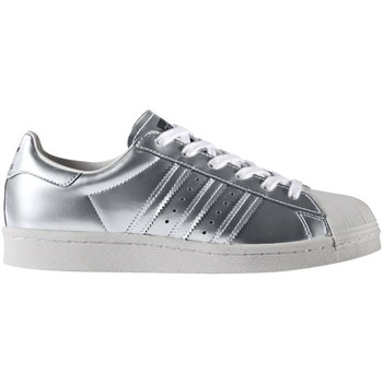 Shoes Women Low top trainers adidas Originals Superstar Boost Women Silver Metallic