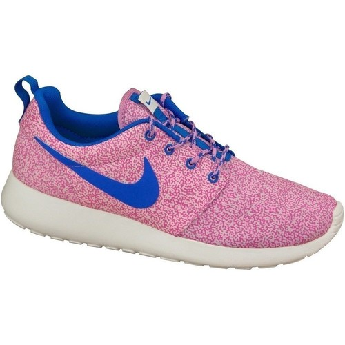 Shoes Women Low top trainers Nike Rosherun Print Wmns Blue, Pink
