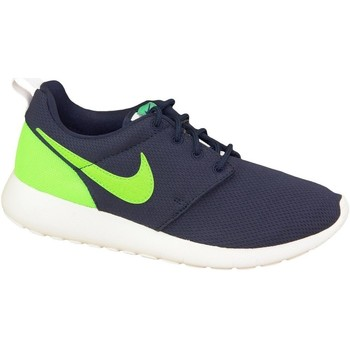 Shoes Children Low top trainers Nike Roshe One GS Celadon,Navy blue