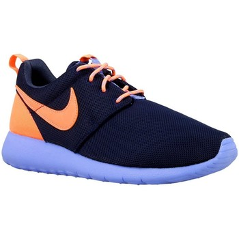 Shoes Boy Low top trainers Nike Roshe One GS Orange,Navy blue