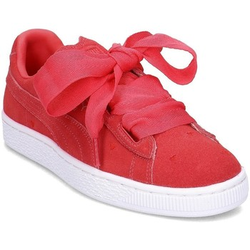 Shoes Children Low top trainers Puma Heart Valentine Pink