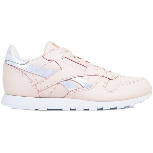 Shoes Girl Low top trainers Reebok Sport Classic Leather Pink