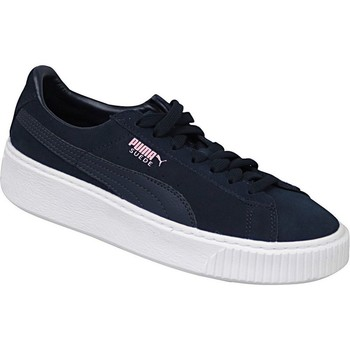 Shoes Children Low top trainers Puma Suede Platform JR Navy blue
