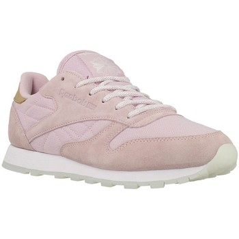 Shoes Women Derby Shoes & Brogues Reebok Sport CL Lthr Sea Worn White,Pink