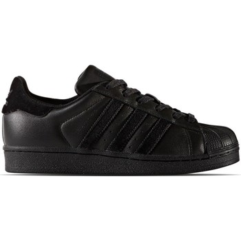 Shoes Children Low top trainers adidas Originals Superstar Core Black Black