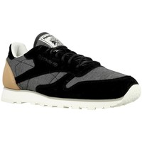 Shoes Men Low top trainers Reebok Sport CL Leather Fleck Black,Grey