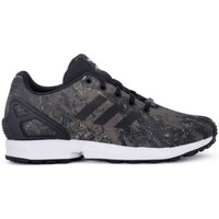 Shoes Children Derby Shoes & Brogues adidas Originals ZX Flux J Black