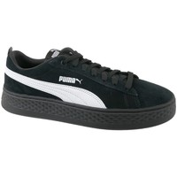 Shoes Women Derby Shoes & Brogues Puma Smash Platform Suede Black