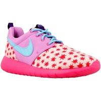 Shoes Girl Low top trainers Nike Roshe One Print GS Red,Blue,Pink