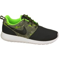 Shoes Children Low top trainers Nike Roshe One Print GS Celadon,Black