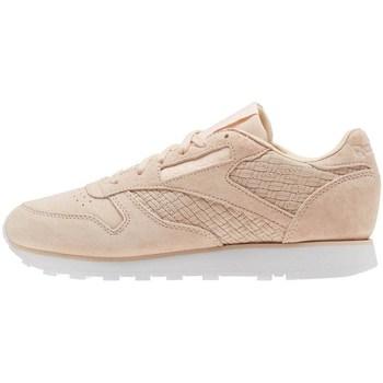 Shoes Women Derby Shoes & Brogues Reebok Sport CL Lthr Woven Emb Beige,Pink
