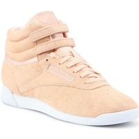 Shoes Women Hi top trainers Reebok Sport Freestyle HI Nbk Beige,Pink