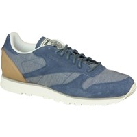 Shoes Men Low top trainers Reebok Sport CL Leather Fleck Grey,Blue