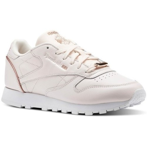 Shoes Women Low top trainers Reebok Sport CL Lthr Pink