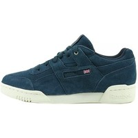 Shoes Men Derby Shoes & Brogues Reebok Sport Workout Plus Mcc White,Navy blue