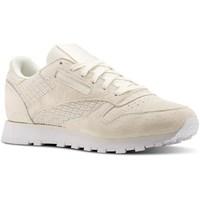 Shoes Women Derby Shoes & Brogues Reebok Sport CL Lthr Woven Emb Cream
