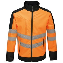 Clothing Men Macs Professional Hi-Vis 3 Layer Softshell Reflective Work Jacket Orange Orange