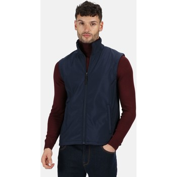 Clothing Men Jackets / Cardigans Professional CLASSIC Softshell Bodywarmer Seal Grey Blue Blue