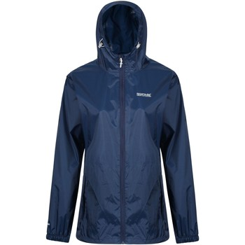 Clothing Women Fleeces Regatta PACK-IT III Waterproof Shell Jacket Blue