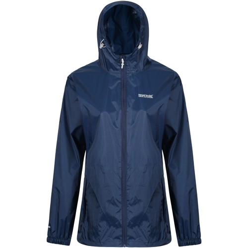 Clothing Women Fleeces Regatta Pack-It III Lightweight Waterproof Walking Jacket Blue Blue