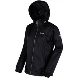 Clothing Women Jackets Regatta Corinne IV Lightweight Waterproof Jacket Black Black