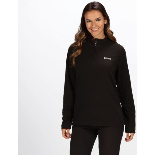 Clothing Women Fleeces Regatta Sweethart Lightweight Half-Zip Fleece Black Black