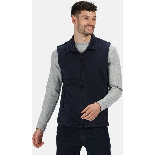Clothing Men Jackets / Cardigans Professional MICRO Quick-Dry Bodywarmer Seal Grey Blue Blue