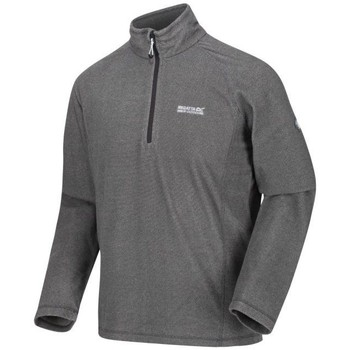Clothing Men Fleeces Regatta Montes Lightweight Half Zip Mini Stripe Fleece Grey Grey