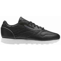 Shoes Women Low top trainers Reebok Sport CL Lthr White,Black