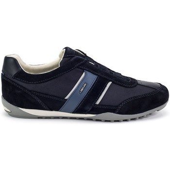 Shoes Men Low top trainers Geox Wells Navy blue