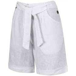 Clothing Women Shorts / Bermudas Regatta Samarah Coolweave Cotton Shorts White White