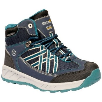Shoes Boy Walking shoes Regatta SAMARIS Mid Boots Blue