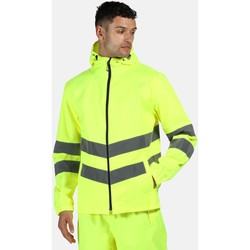 Clothing Men Jackets Professional HIVISPRO Packable Jacket Waterproof Orange Yellow Yellow