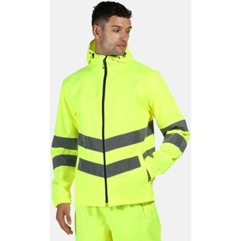 Clothing Men Jackets Professional HIVISPRO Packable Jacket Waterproof Yellow