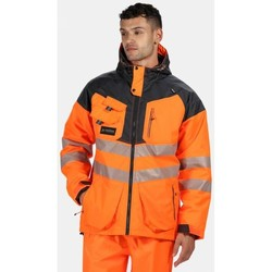 Clothing Men Jackets Professional Hi-Vis Waterproof Reflective Parka Jacket Orange Orange