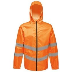 Clothing Men Jackets Professional Hi Vis Pro Waterproof Reflective Packaway Work Jacket Orange Orange